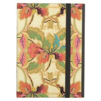 Étui iPad Air Motif orange vintage de papier peint floral de