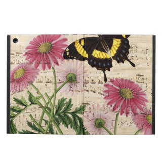 Étui iPad Air Musique de papillon de marguerite