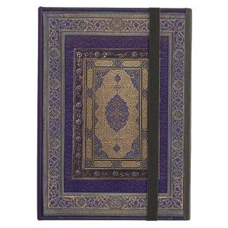 Étui iPad Air Or antique sur la couverture de livre décorative