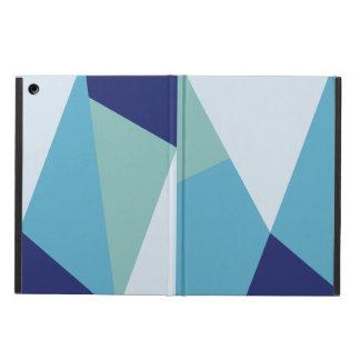 Étui iPad Air Pastel géométrique élégant de bleu marine et de