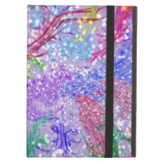 Étui iPad Air Photo colorée pourpre de parties scintillantes