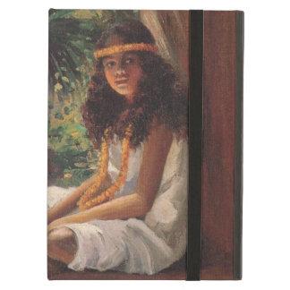 Étui iPad Air Portrait d'une fille polynésienne - Hélène T.