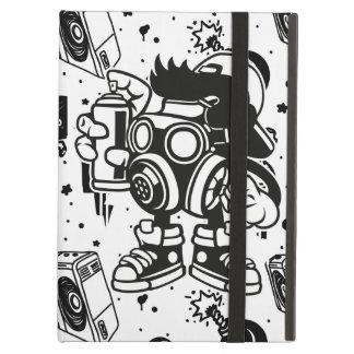 Étui iPad Air Rétro caisse d'air d'iPad d'art de graffiti de