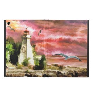 Étui iPad Air Scène de phare de côte d'océan, caisse d'air