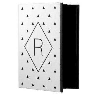 Étui iPad Air Triangles géométriques blanches noires élégantes