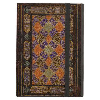 Étui iPad Air Une vieille couverture de livre décorative