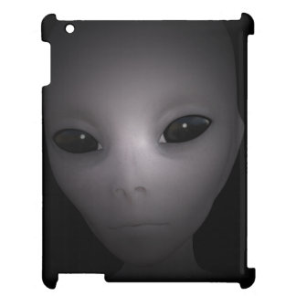 Étui iPad Alien noir mystérieux