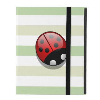 Étui iPad Coccinelle (Ladybird, Madame scarabée) avec des