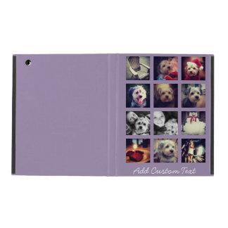 Étui iPad collage carré de la photo 12 avec l'arrière - plan