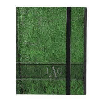 Étui iPad Conception grunge rustique de Livre vert
