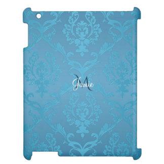 Étui iPad Damassé fascinante moderne vintage de turquoise