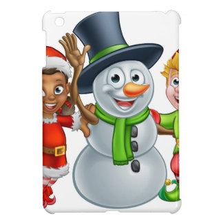Étui iPad Mini Aides et bonhomme de neige d'Elf Santa de Noël