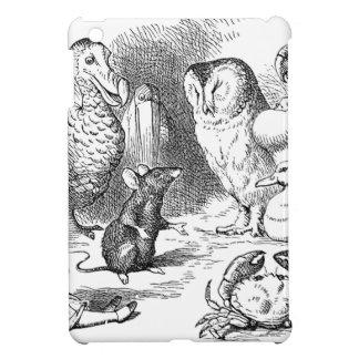 Étui iPad Mini Alice, souris et oiseaux