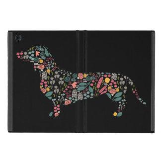 Étui iPad Mini Art floral d'aquarelle de motif de chien de