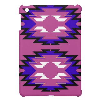 Étui iPad Mini Aztèques roses exotiques d'éléments de conception