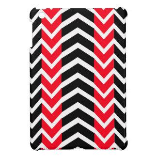 Étui iPad Mini Baleine rouge et noire Chevron