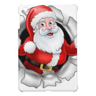 Étui iPad Mini Bande dessinée de Père Noël déchirant par un