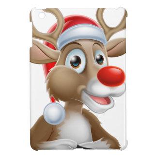 Étui iPad Mini Bande dessinée de renne de Noël avec le casquette