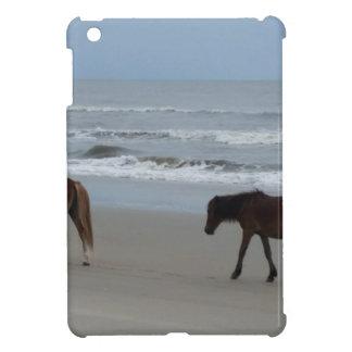 Étui iPad Mini Banques externes de chevaux sauvages