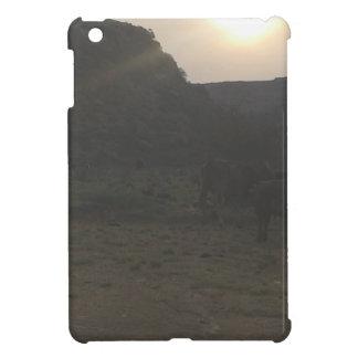 Étui iPad Mini Bétail de coucher du soleil