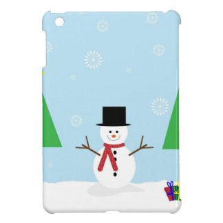 Étui iPad Mini Bonhomme de neige de Noël