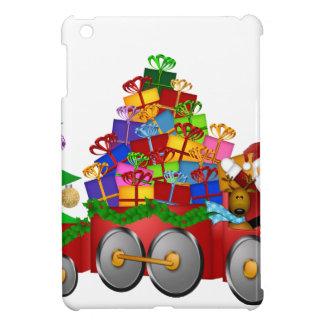 Étui iPad Mini Bonhomme de neige de renne de Père Noël en cadeaux