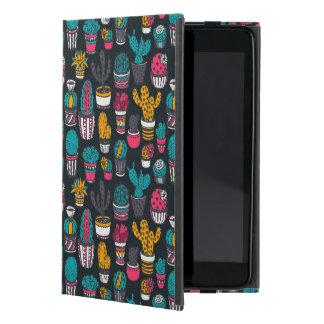 Étui iPad Mini Cactus tiré par la main dans le motif de style de