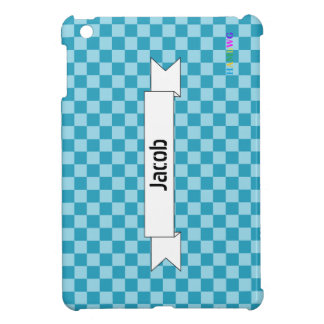 Étui iPad Mini Cas   dur brillant de HAMbyWG - Aqua Teal