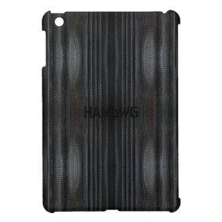 Étui iPad Mini Cas   dur brillant de HAMbyWG - maille noire