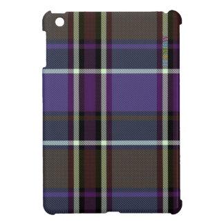 Étui iPad Mini Cas   dur brillant de HAMbyWG - pourpre du plaid W