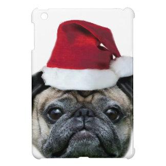 Étui iPad Mini Chien de carlin de Noël