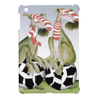Étui iPad Mini chiens du football de rouges quand samedi vient