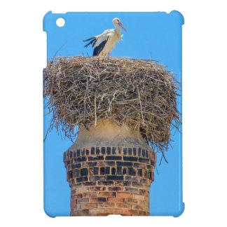 Étui iPad Mini Cigogne adulte dans le nid sur chimney.JPG