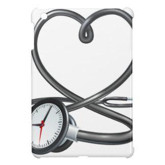Étui iPad Mini Concept d'horloge de coeur de stéthoscope