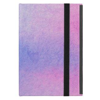 Étui iPad Mini Couleur pour aquarelle de marbre rose et bleue