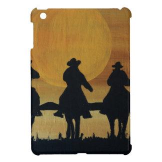 Étui iPad Mini cowboys et chevaux
