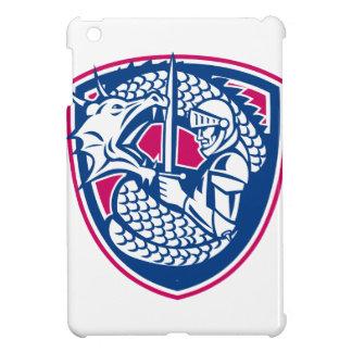Étui iPad Mini Crête de combat de dragon et de chevalier
