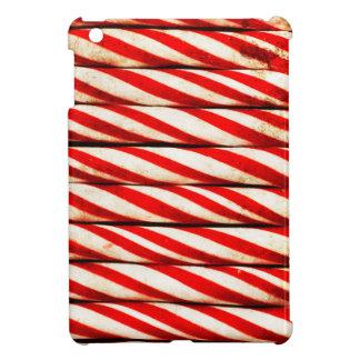 Étui iPad Mini Décoration rouge rayée de Noël blanc de sucre de