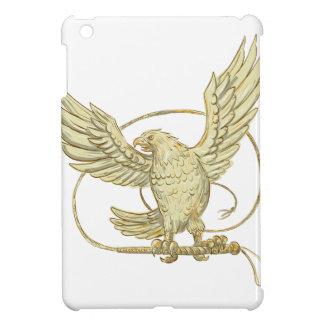 Étui iPad Mini Eagle saisissant le dessin de Bullwhip