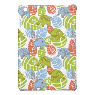 Étui iPad Mini Éléphants colorés de jungle