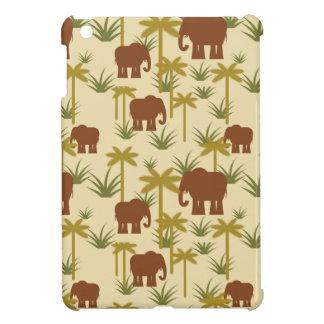 Étui iPad Mini Éléphants et paumes dans le camouflage