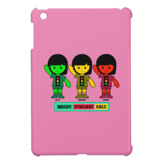 Étui iPad Mini Filles déprimées de feu d'arrêt en bref