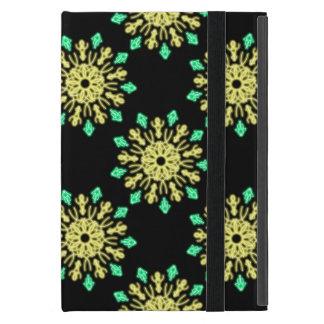Étui iPad Mini Fleur au néon jaune et verte