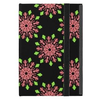 Étui iPad Mini Fleur au néon rouge et verte