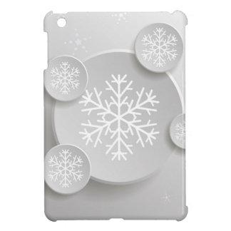 Étui iPad Mini flocons de neige abstraits