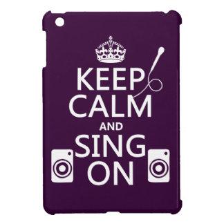 Étui iPad Mini Gardez le calme et chantez sur (le karaoke)