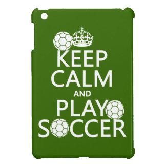 Étui iPad Mini Gardez le football de calme et de jeu (toute