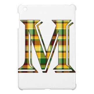 Étui iPad Mini Initiale de plaid de M