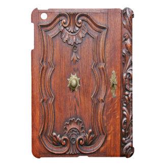 Étui iPad Mini iPad (de porte en bois verrouillée principale)