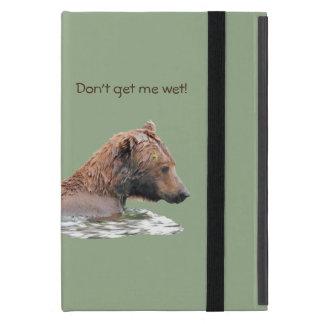 Étui iPad Mini Je capitonne le cas avec l'ours gris